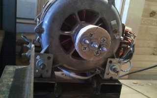 Токарный станок из движка от стиралки (3 скорости)