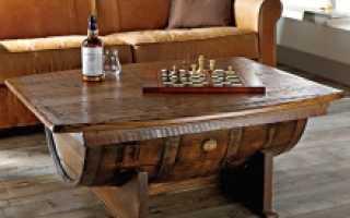 Журнальный столик своими руками из винной бочки