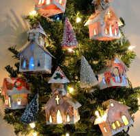 Новогодняя поделка — домик с подсветкой на светодиодах