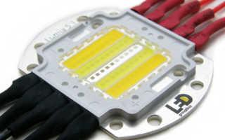 Светодиодный прожектор на дешевом светодиодном чипе 220 В (без драйвера) и сравнение характеристик с другими светодиодами