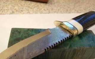 Походный нож из рашпиля своими руками